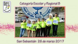 LOS ESCOLARES Y REGIONALES B ACUDEN A SAN SEBASTIÁN